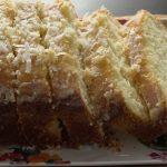 Glazed coconut cake