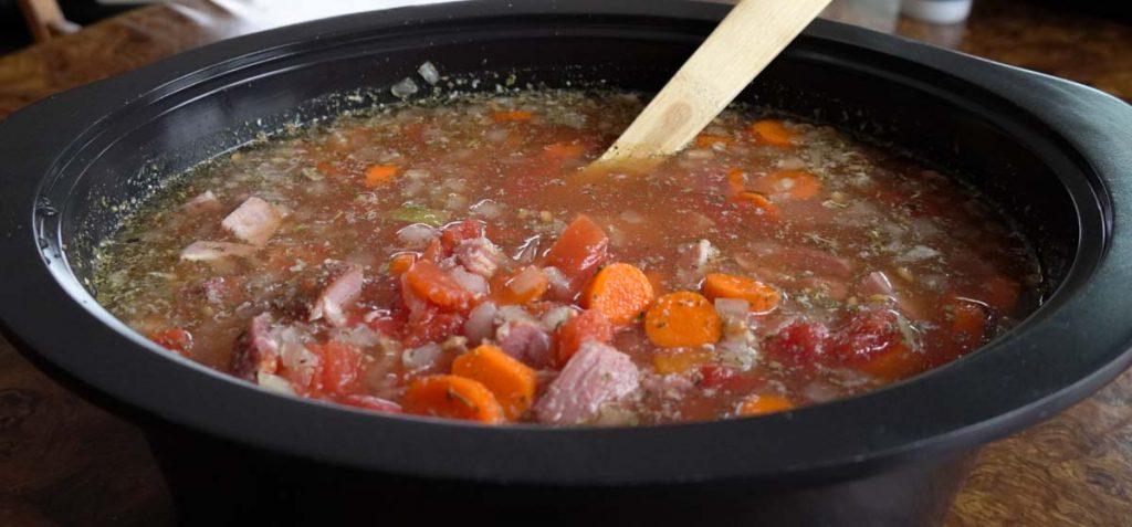 ham and lentil soup in slow cooker