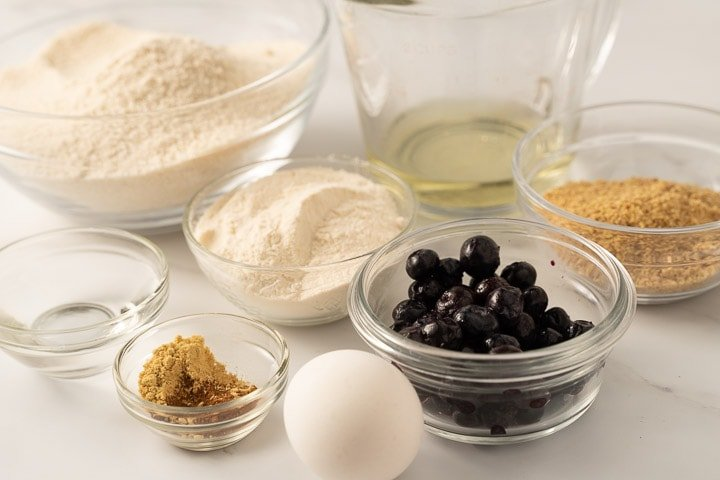 ingredients for blueberry dog biscuits