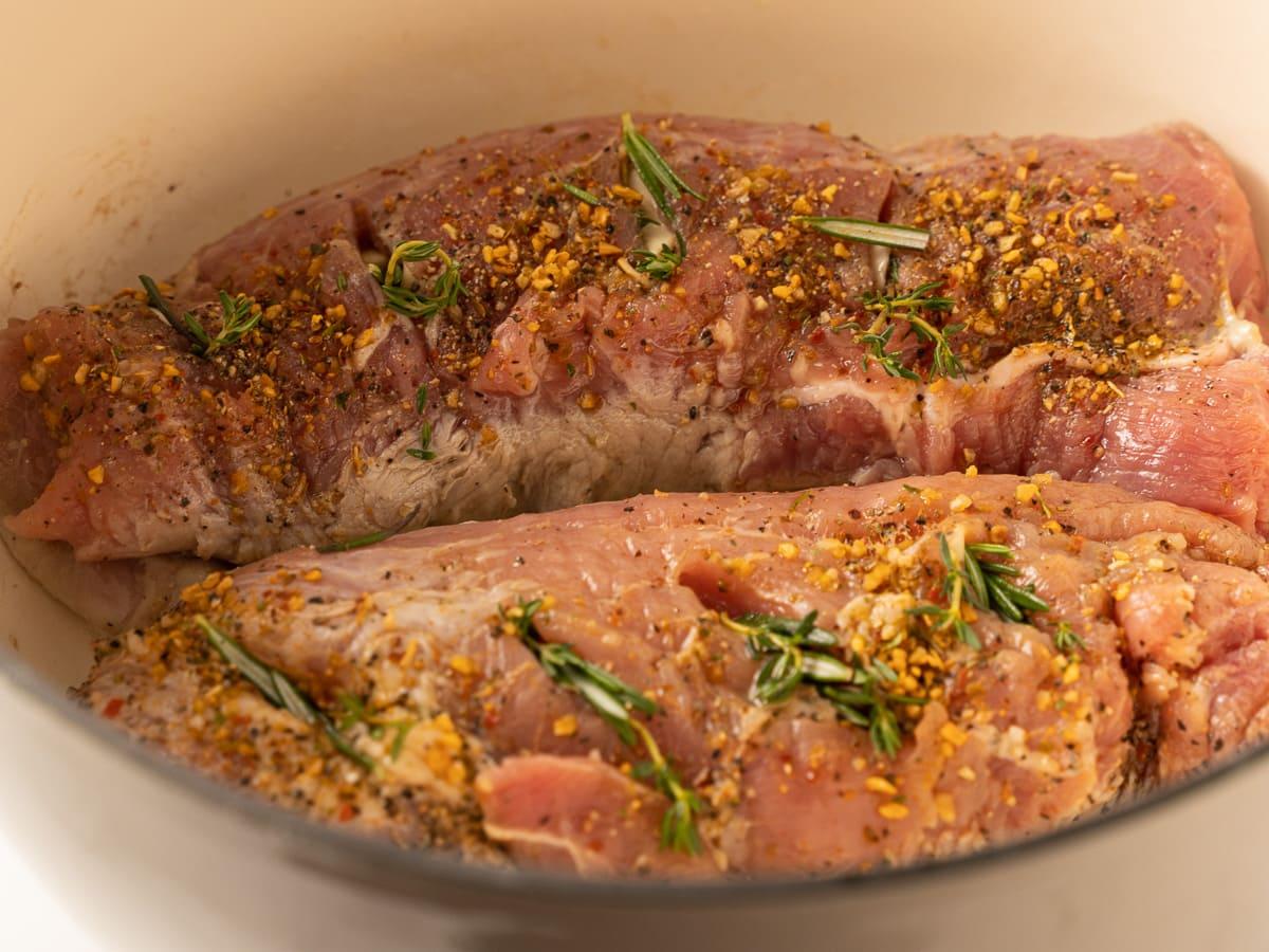 pork tenderloins in dutch oven