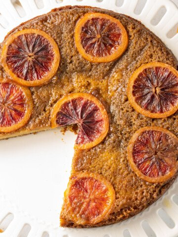 keto upside down blood orange cake