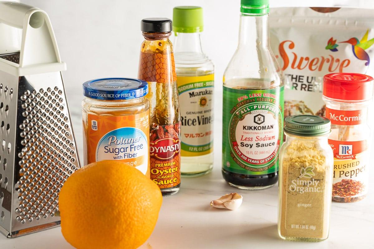 ingredients for keto orange sauce