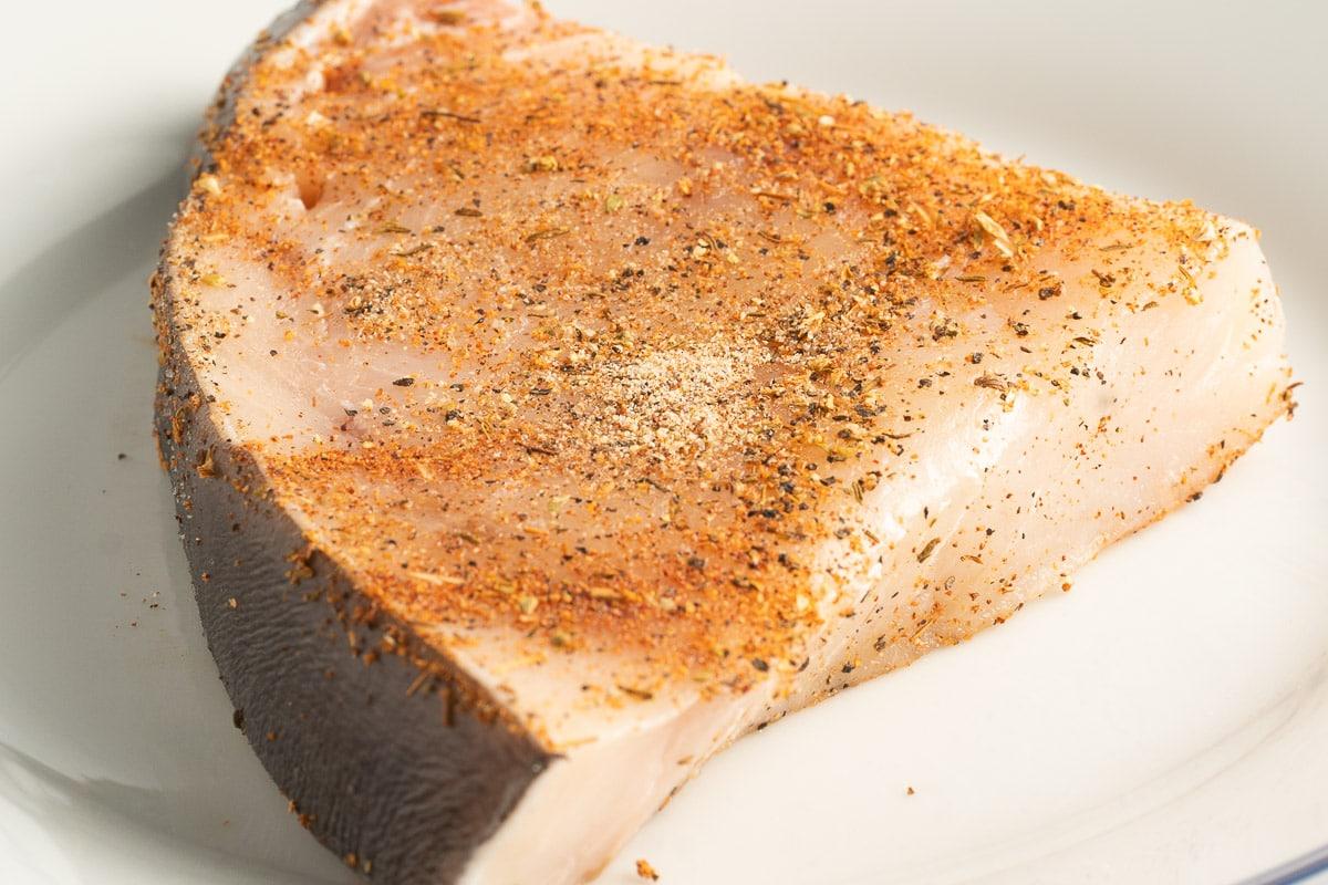 swordfish with seasoning rub