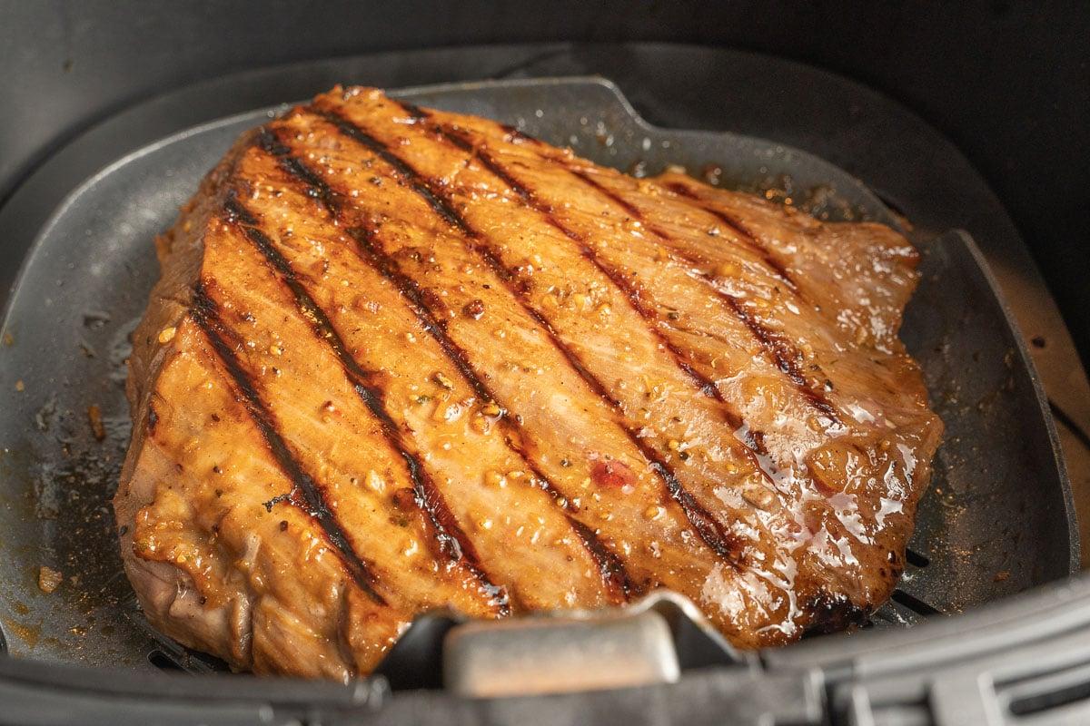 air fried flank steak.
